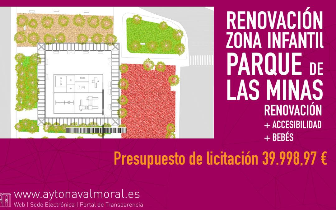 En licitación la obra de renovación de la zona infantil del parque de Las Minas