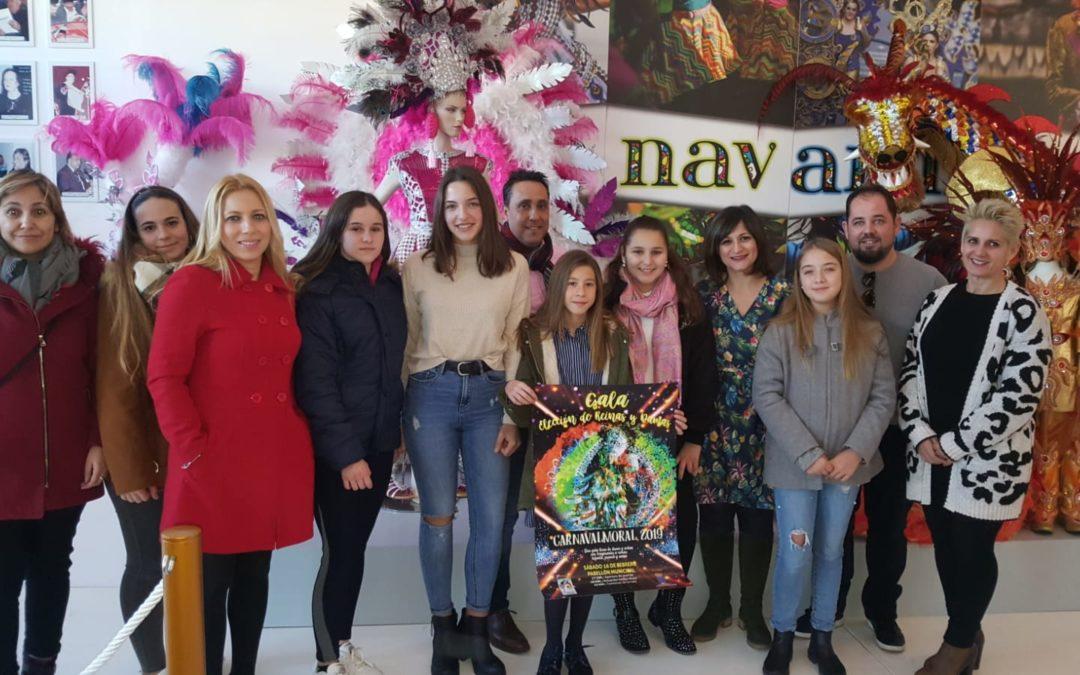 Presentada la recuperada Gala de elección de Reinas y Damas del Carnavalmoral, que se celebrará el sábado 16 de febrero en el Pabellón del Molinillo.