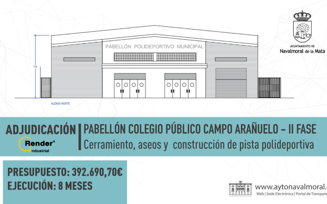 El cerramiento de la pista polideportiva del Campo Arañuelo avanza y ya tiene adjudicatario para realizar las obras.