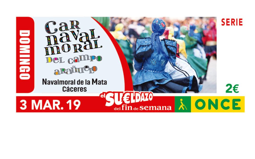 El Carnavalmoral, motivo del cupón de la ONCE correspondiente al sorteo del 3 de marzo