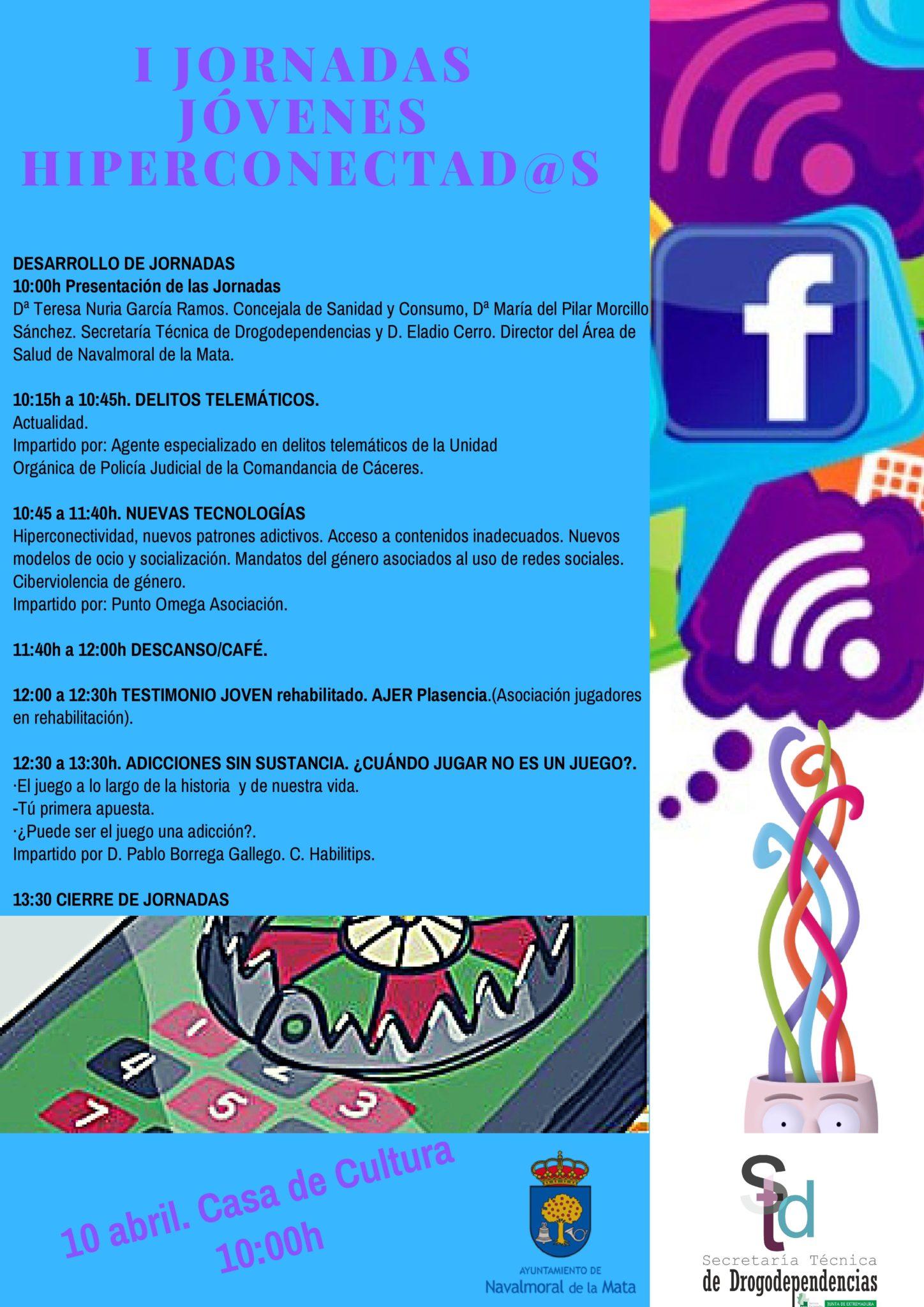 """""""Jóvenes híperconectados"""" Jornadas para formar en la prevención de la ludopatía y el mal uso de la red."""