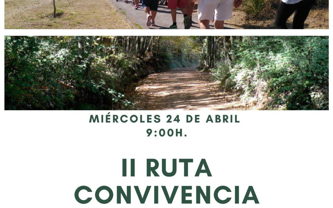 """El Programa de Envejecimiento Activo y Saludable organiza la II Ruta """"Convivencia Senderista"""" para personas mayores."""