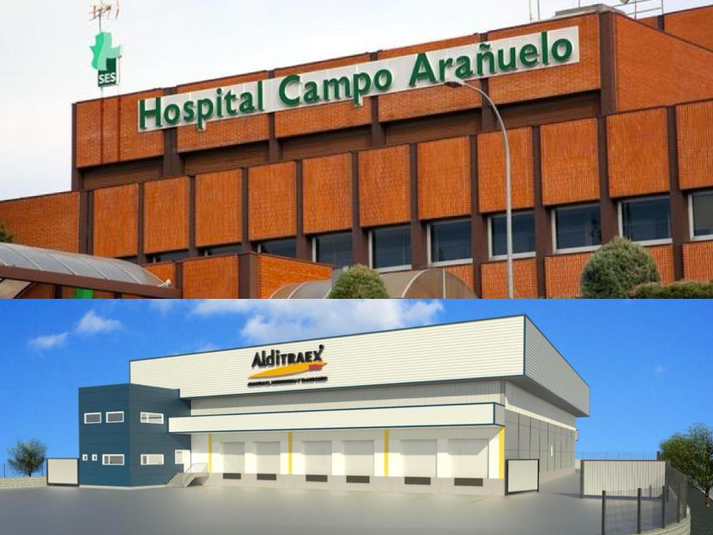 Aprobadas las licencias de obra para la UCI del Hospital Campo Arañuelo y la Nave Industrial de Alditraex en Expacionavalmoral