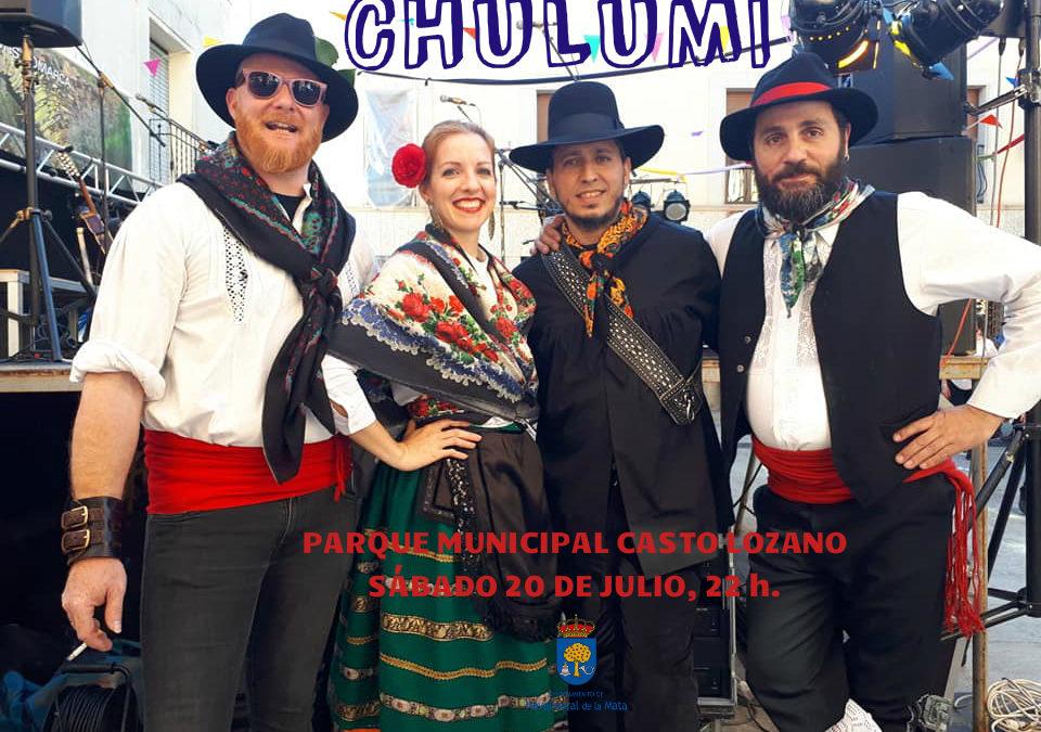Chulumi y el folk más conocido de la provincia en el Parque Municipal Casto Lozano.