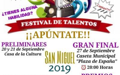 Agrupación de Peñas, Asociación de Hostelería y Ayuntamiento organizan un concurso de talentos para San Miguel.