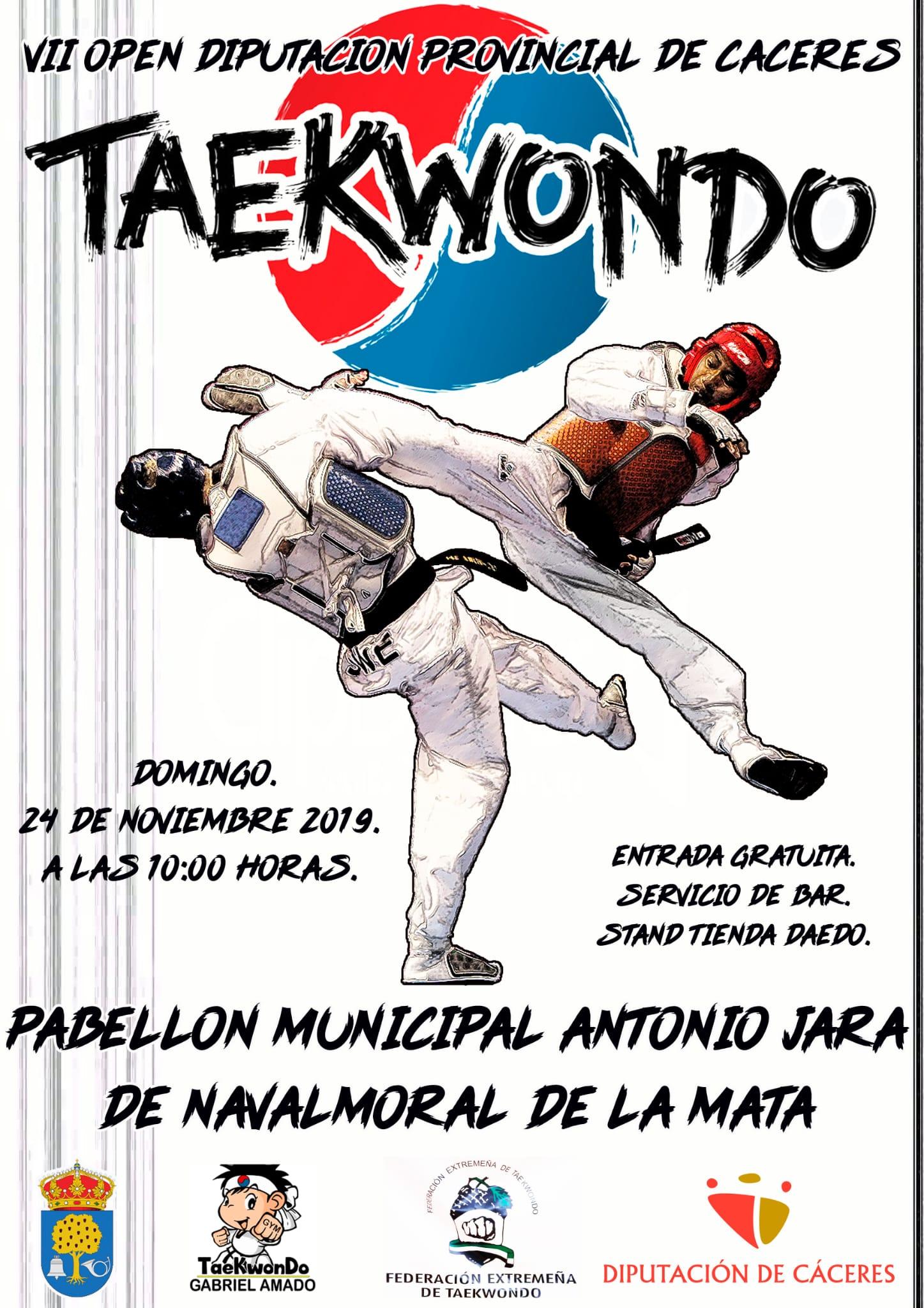VII open de taekwondo Diputación Provincial de Cáceres.
