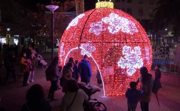 Encendido de luces de navidad.