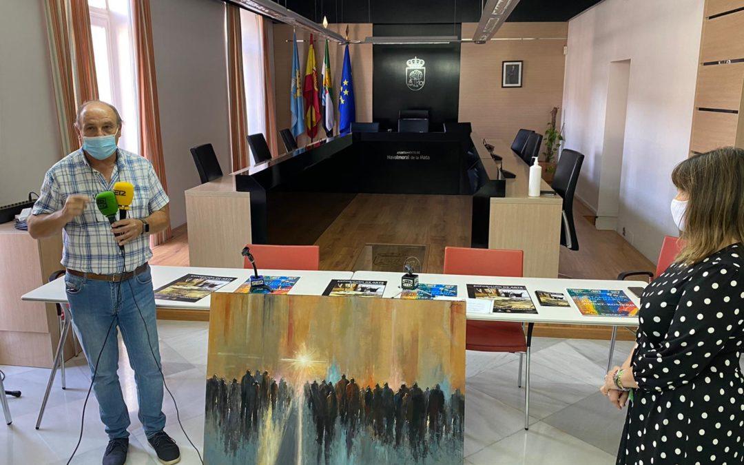 """Juan Núñez dona su trabajo """"Camino hacia la luz"""" a la ciudad de Navalmoral."""