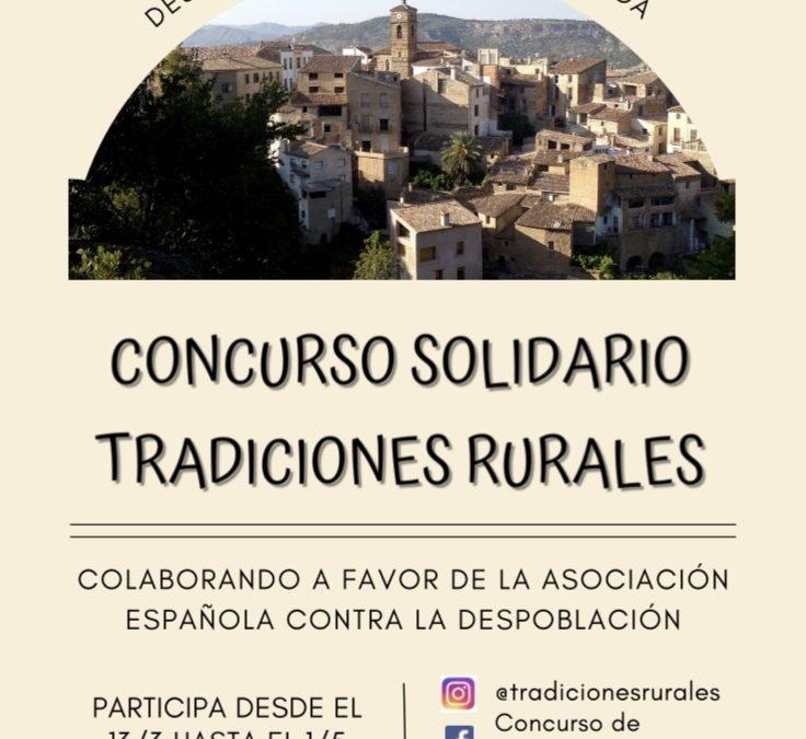 """Proyecto formativo contra la despoblación rural """"Concurso de Tradiciones Rurales""""."""