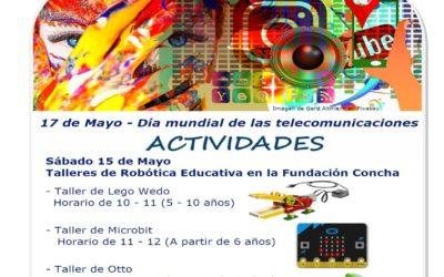Talleres para niños en la Fundación Concha con motivo del Día Mundial de las Telecomunicaciones.