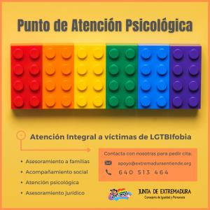 Atención integral a víctimas de LGTBI+fobia